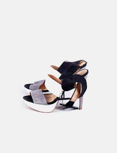 Chaussures heeled tricolores Zara