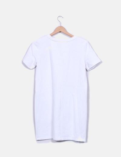 Vestido tricot blanco
