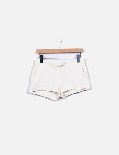 Shorts deportivo beige H&M