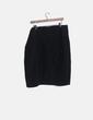 Falda negra detalles plisados G'ART