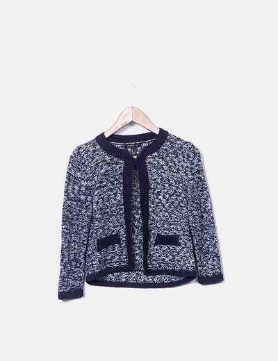 Chaqueta tricot bicolor