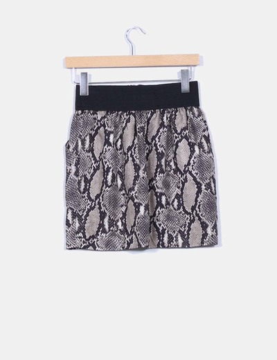 Mini falda animal print