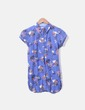 Vestido camisero azul marino topos Primark