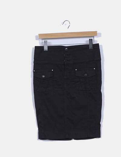 Falda tubo negro Zara