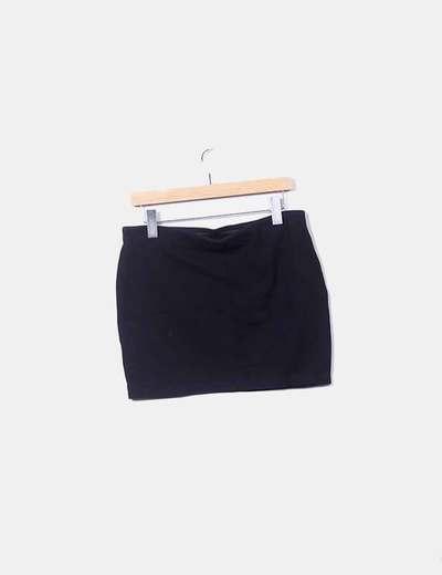 db7d4daca Minifalda negra texturizada