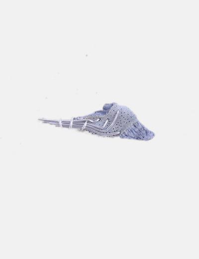 Broche coral azul y plata
