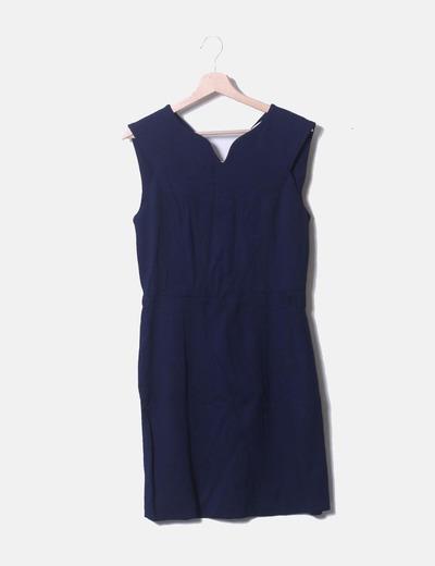 Vestido sin mangas azul marino