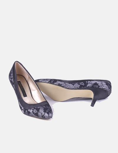 Tacón De Zapato De Tacón Zapato Negro Encaje If7mgvYb6y