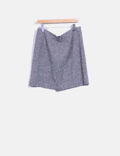 Falda cruzada tonos grises