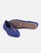 Bailarina azul pana pico Zara