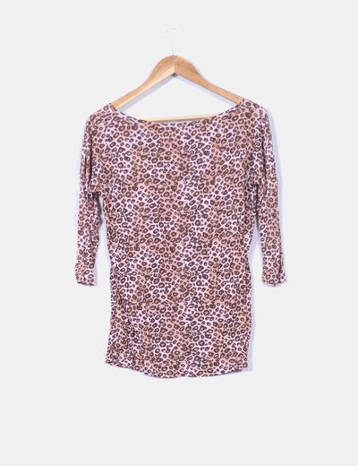 Top print leopardo