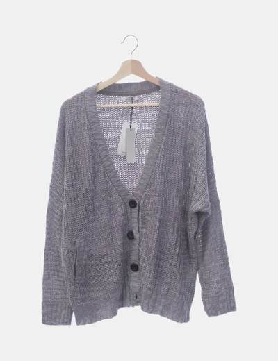 Chaqueta tricot gris