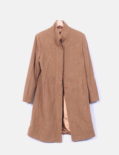 Abrigo largo de paño camel Tex Woman