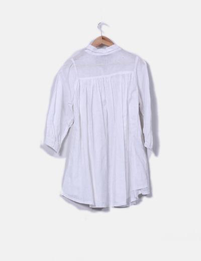 Camisola de lino blanca oversize