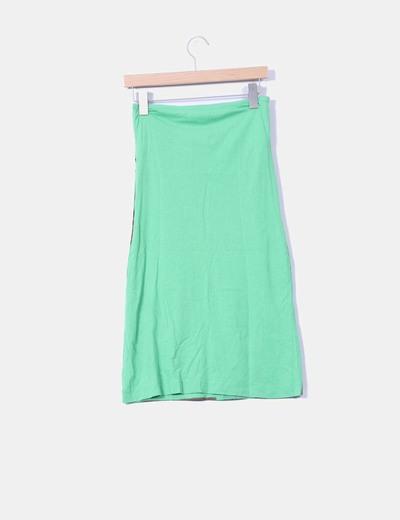 Vestido print verde palabra de honor