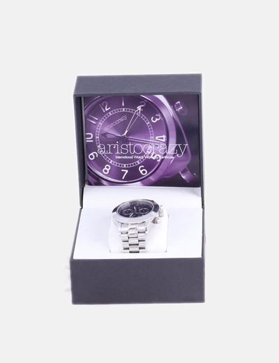 Reloj analógico acero