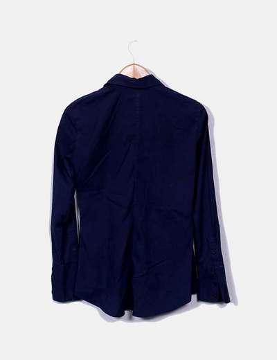 Camisa azul marina con strass