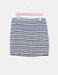 Falda midi estampada tricolor Trucco