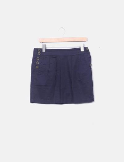 Minifalda azul marina