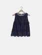 Blusa crochet combinada azul Pull&Bear