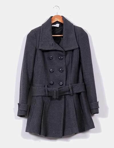 Zara Abrigo de tweed tres cuartos gris marengo (descuento 56%) - Micolet