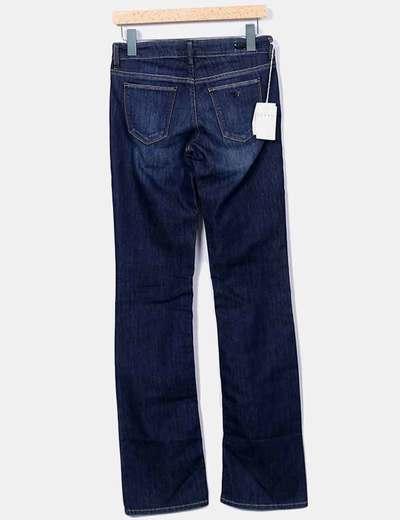 Jeans denim oscuro campana