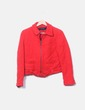 Veste rouge ceinturée Zara