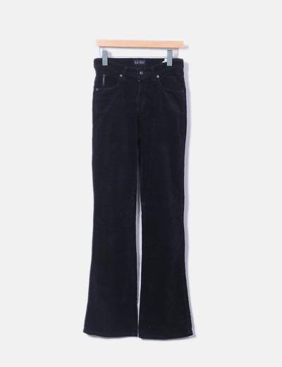 8774c4fdb4b Armani Jeans Pantalon de campana tiro alto pana (descuento 73 ...