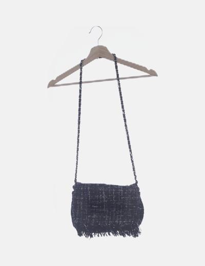 Bolso negro tweed