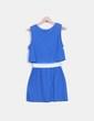 Vestido azul cintura metalizada Claudie Pierlot
