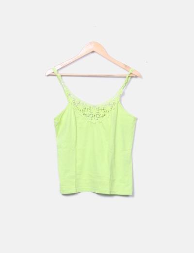 Camiseta pistacho encaje