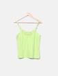 Camiseta pistacho encaje Primark