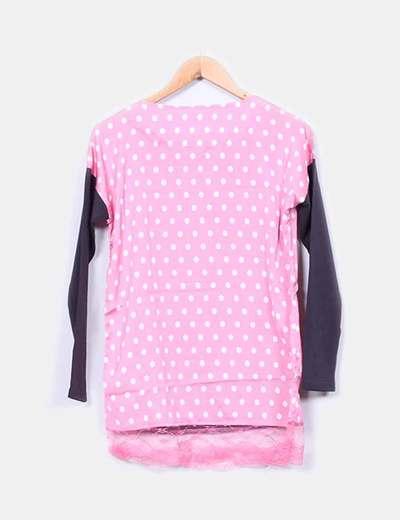 Vestido print rosalita topos