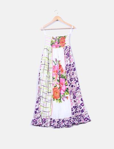 Vestido maxi floral con estampado Derhy