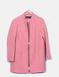 Abrigo paño rosa Zara