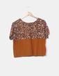 Camiseta camel print animal Pull&Bear
