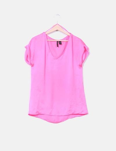 Blusa rosa fluor  Mango