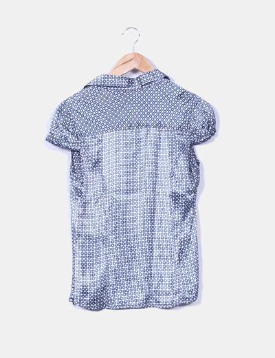 Blusa estampada satinada Zara