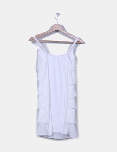 Vestido blanco de volantes