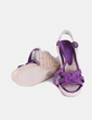 Sandalia de esparto morada Cortefiel