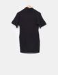 Vestido tricot de manga corta negro Suiteblanco