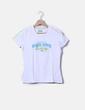 Camiseta blanca con pailettes Reebok