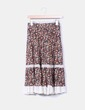 Falda midi floral Zara