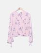 Blusa fluida rosa print flores Primark