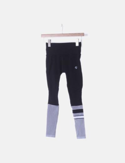 Legging sport negro y blanco troquelado