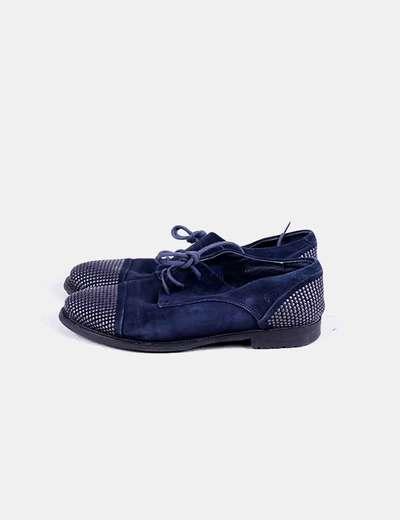 Zapato plano azul marino tachas Bruni podium