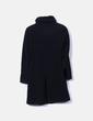 Abrigo negro texturizado Zara