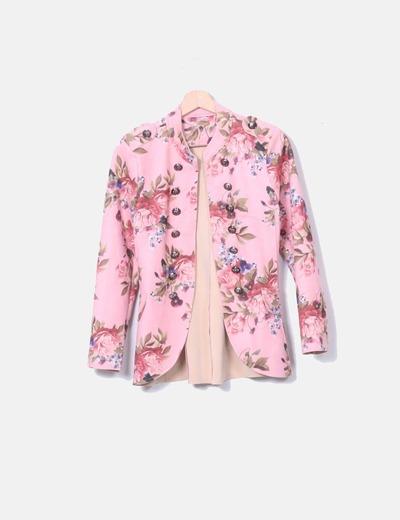 Casaca rosa nopreno floral