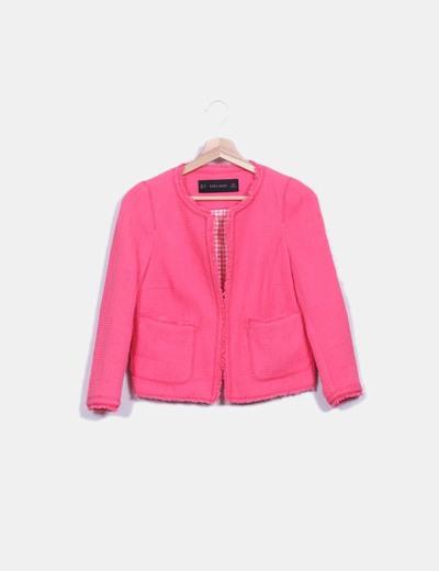 Chanelita rosa texturizada Zara