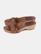 Sandalias marrones con suela de madera Gloria Ortiz
